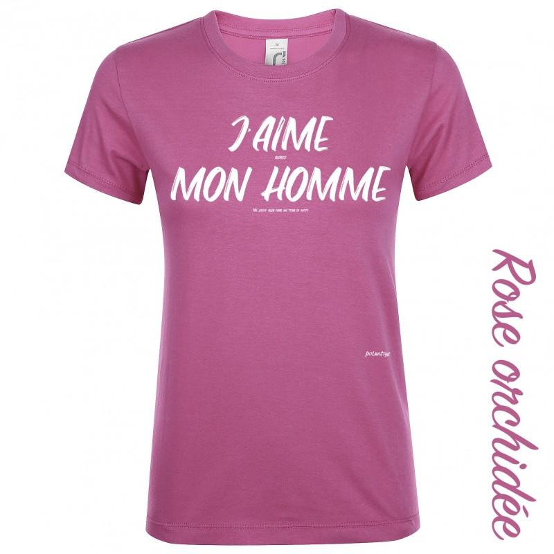 T-shirt J'aime quand mon homme - Pit Lane Shop