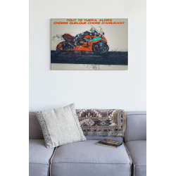Affiche d'art Passion moto