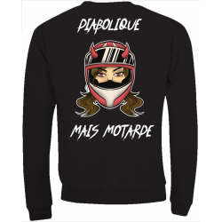SWEATSHIRT DIABOLIQUE MAIS MOTARDE
