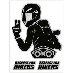 STICKERS RESPECT FOR BIKERS