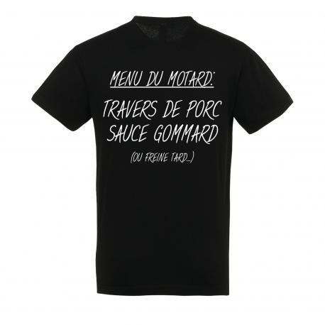T-SHIRT MENU DU MOTARD